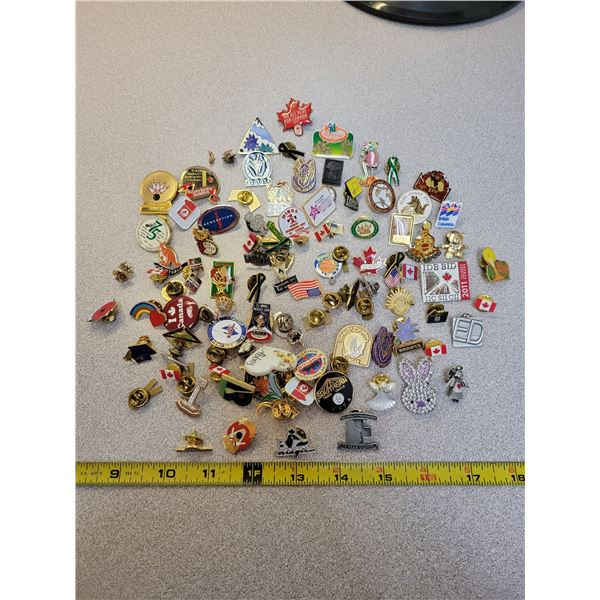 lot of over 100 pins - all shapes, sizes & descriptions