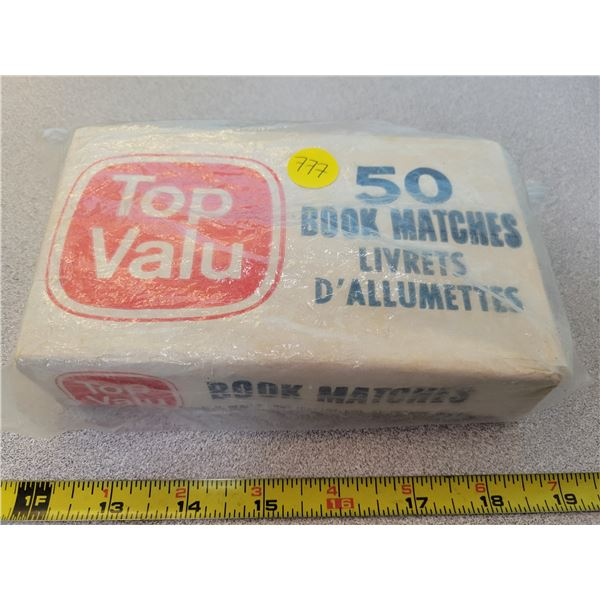 Vintage box of 50 book matches 1970's *unopened*