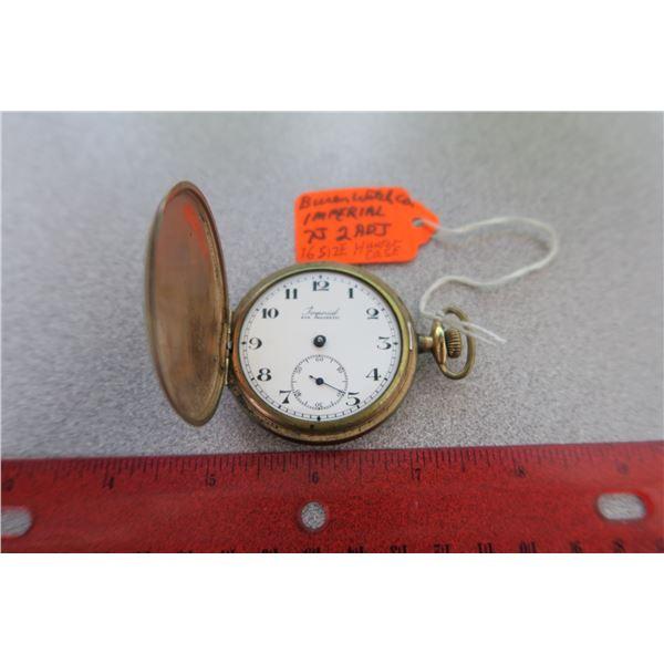 Buren watch co. Hunter case size 16 pocket watch