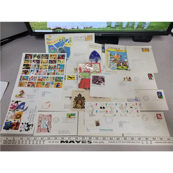 Postal 1st day covers - flight, Christmas & more