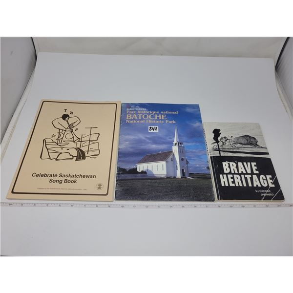 3 Saskatchewan history books - 1 by George Shepherd