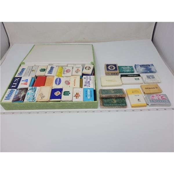 Approx 112 vintage motel soaps