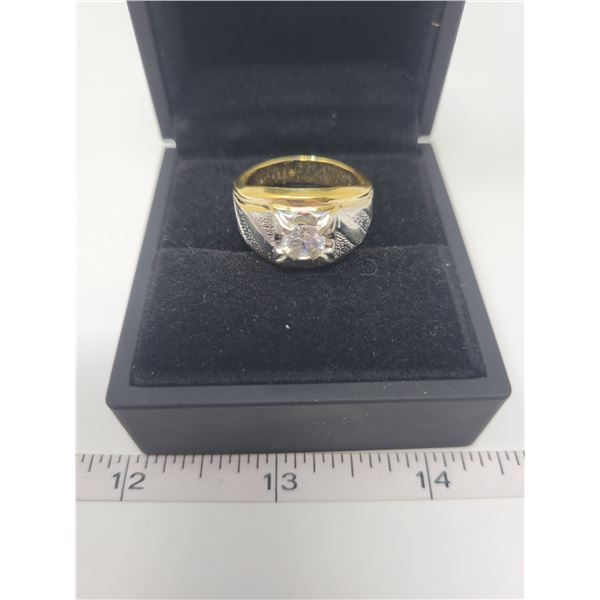 14K Gold Electro Plated men's ring - size 10.5