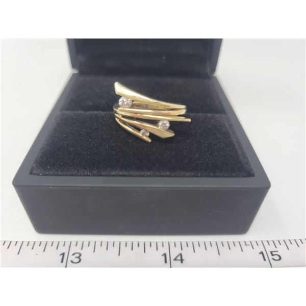 3 diamond ring - 10K gold, size 6 purchased at People's jewellers