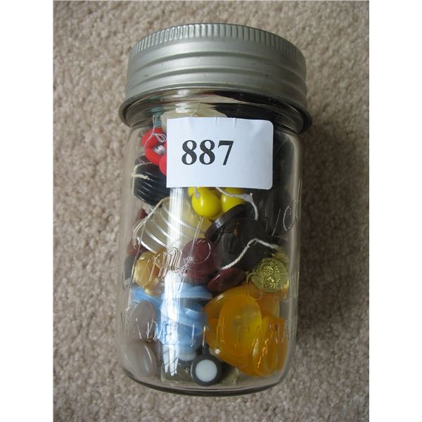 JAR of BUTTONS - Sorted - 40 Batches with 6 or more matching buttons in each batch