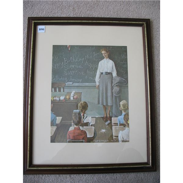 NORMAN ROCKWELL PRINT - 16 X 20 inches - FRAMED