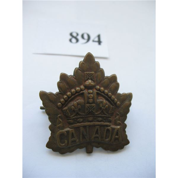 WORLD WAR I - GENERAL SERVICE CAP BADGE
