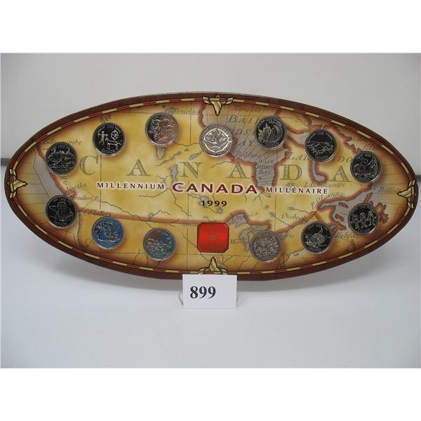 1999 CANADA MILLENIUM QUARTER SET - Canada Mint Issued