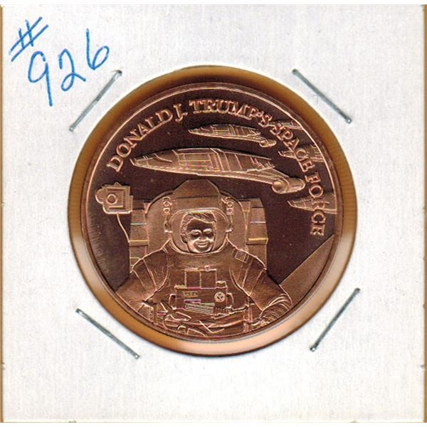 1 OUNCE .999 COPPER - DONALD TRUMP SPACE FORCE