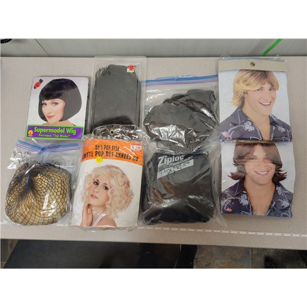 Huge lot of wigs & hair pieces