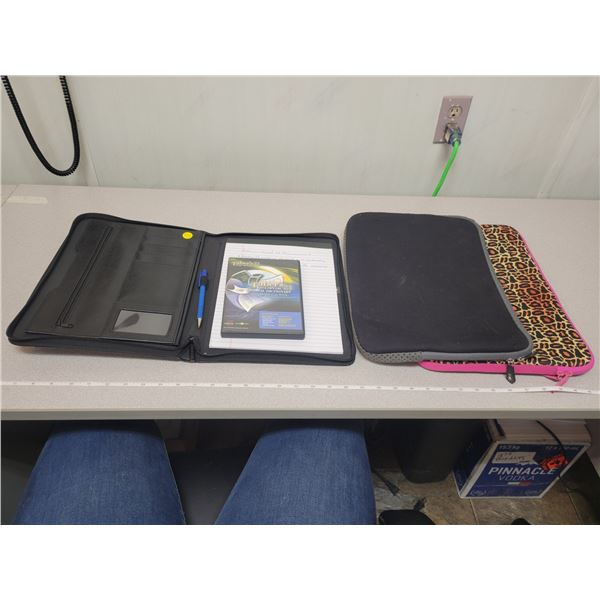 "Business portfolio, Taber's cyclopedic medical dictionary & 2 15.6"" laptop sleeves"