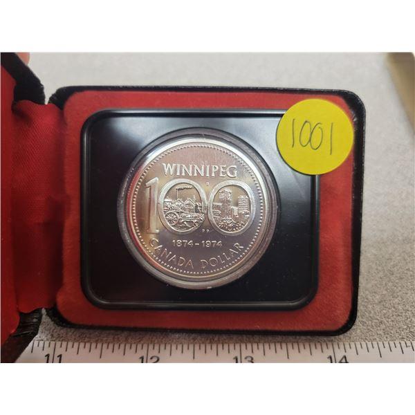 1974S Canadian silver dollar
