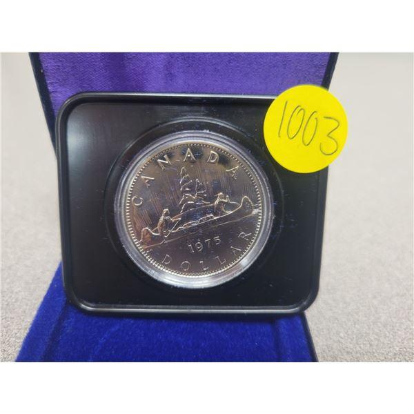 1975N Canadian silver dollar