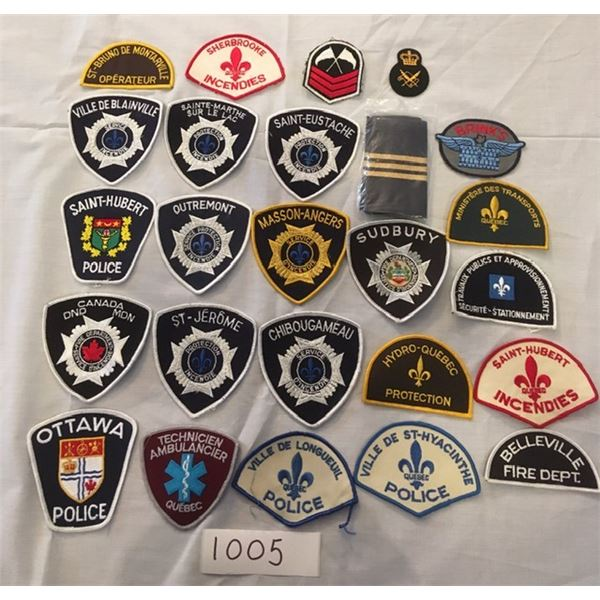 1005 - 25 assorted Military & Police patches