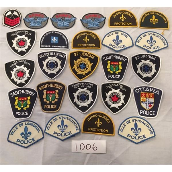1006 - 25 assorted Military & Police patches