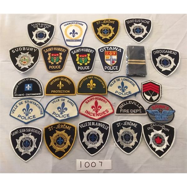 1007 - 25 assorted Military & Police patches