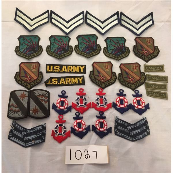 1027 - 30 assorted patches