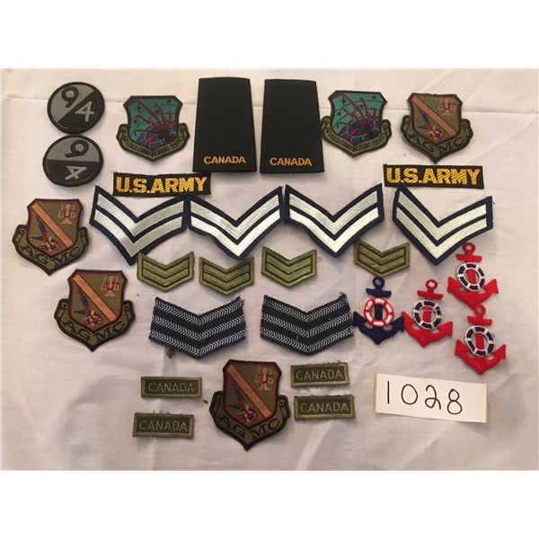 1028 - 30 assorted patches