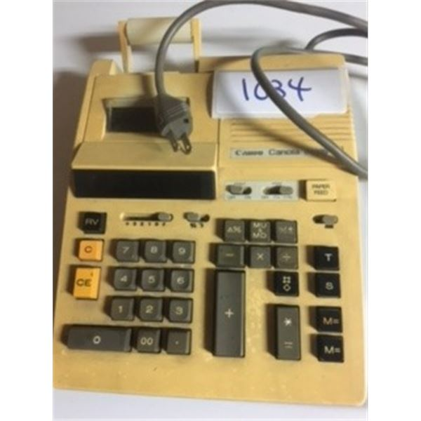 VINTAGE  80S  CANON  CANOLA   ELECTRIC/BATTERY ADDING MACHINE. WORKING  CONDITION