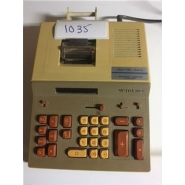 VINTAGE 80S VICTOR 620 ELECTRIC/BATTERY ADDING MACHINE. WORKING CONDITION