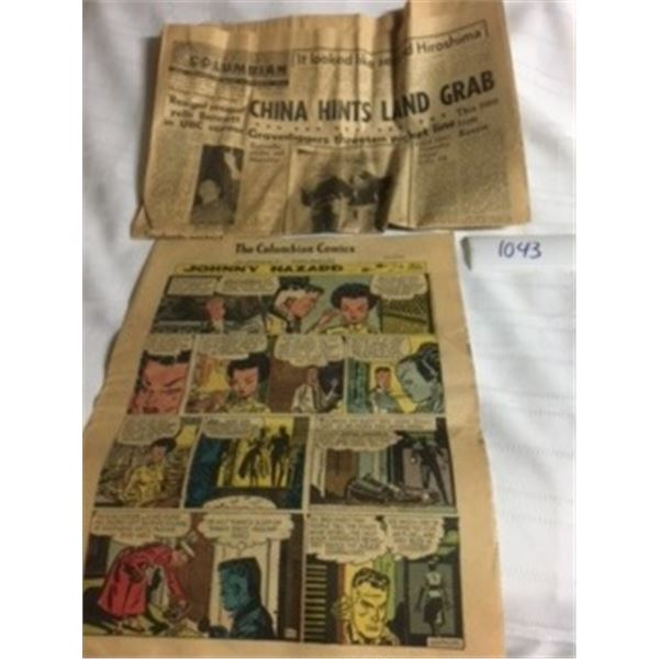 1043-THE BRITISH  COLUMBIAN  NEWSPAPER  SAT. MAR9,1963 AND THE COLUMBIAN COMICS .  NEWWESTMINISTER,