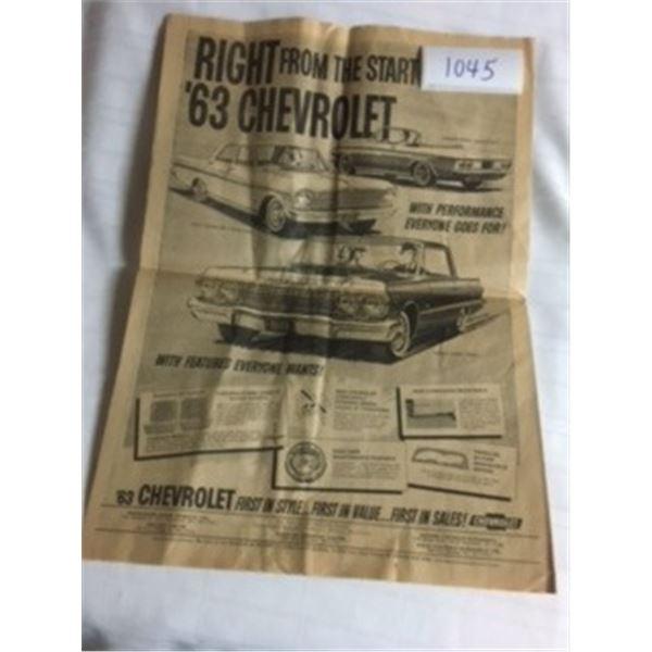1045-1963 CHEVROLET SALES ADVERTISING