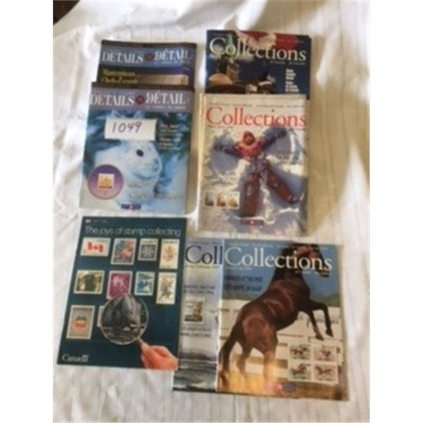 1049-LOT OF 13 CANADA POST STAMP COLLECTING MAGAZINES  1983,1998,1999