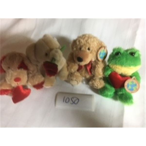 1050-LOT OF 5 NEW PLUSHIES WITH TAGS  SAVE OUR EARTH NOW—EARTHRITE FIBER