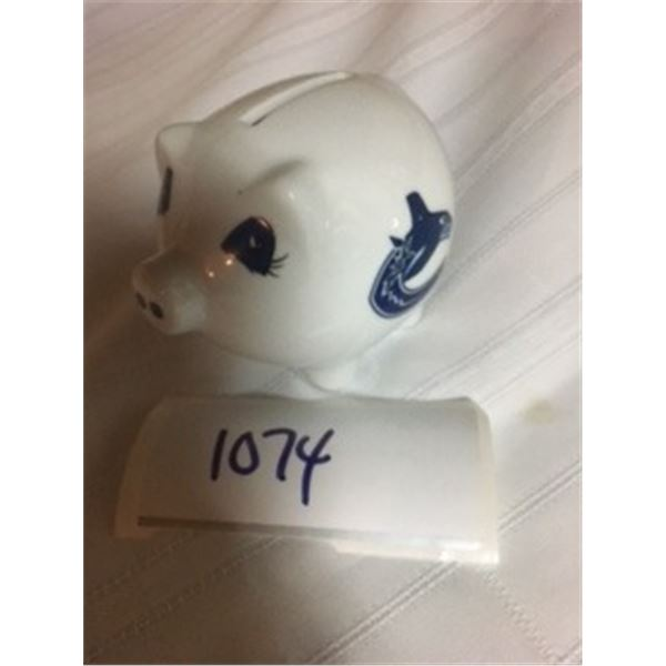 "1074-NHL COLLECTOR BANK APPROX 4"" NEW WITH TAGS  VANCOUVER CANUCKS"