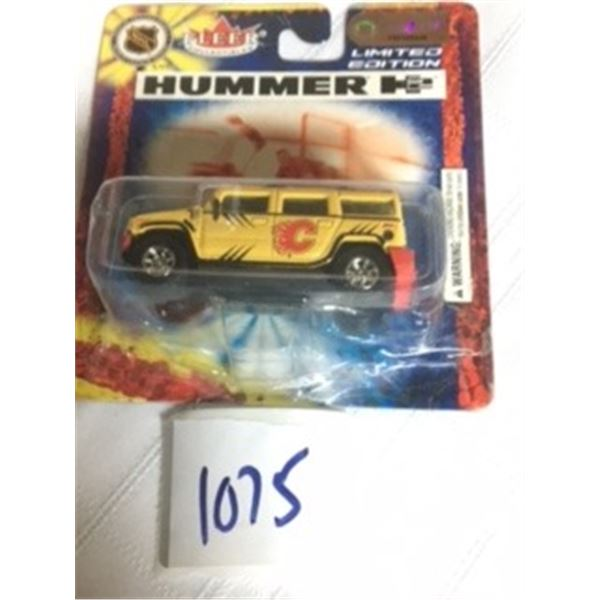 1075-NHL LIMITED EDITION COLLECTOR...  HUMMER H2   CALGARY FLAMES… FACTORY SEALED