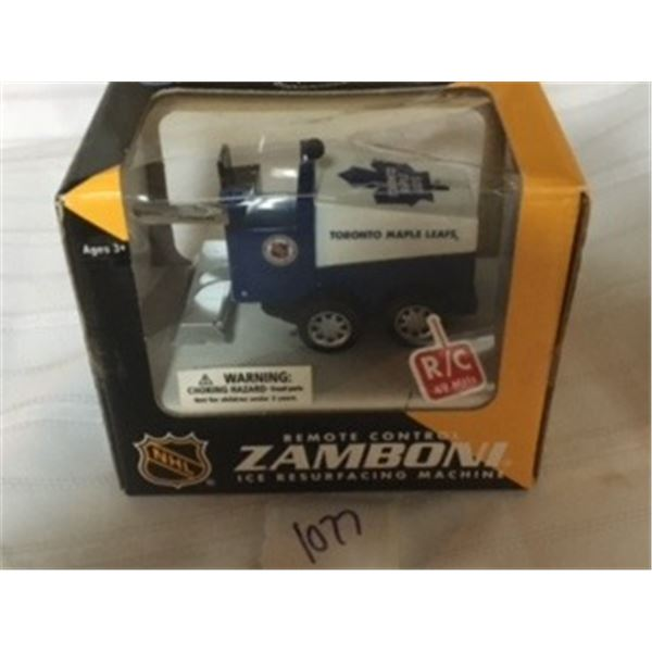 1077-NHL COLLECTIBLE REMOTE CONTROL  ZAMBONI,,  TORONTO MAPLE LEAFS… FACTORY SEALED