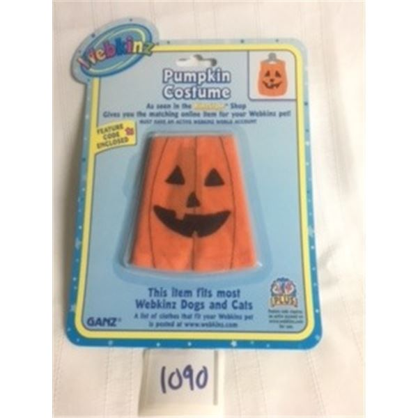 1090-WEBKINZ 1990'S OFFICIAL FACTORY SEALED WITH FEATURE CODE…PUMPKIN COSTUME.