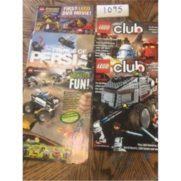 1095-LOT OF 5 LEGO MAGAZINES 2000'S MINT CONDITION