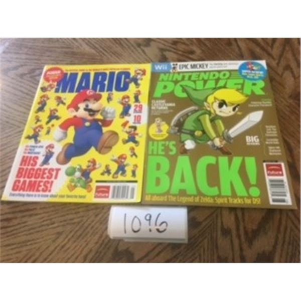 1096-NINTENDO COLLECTOR MAGAZINES LOT OF 2 ….2010