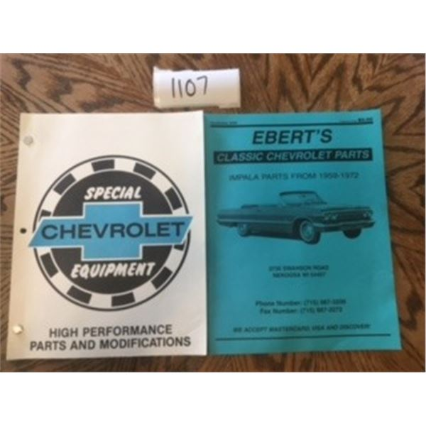 1107-LOT OF 2 CHEVROLET AND IMPALA PARTS AND MODIFICATIONS  GUIDES. 1959-1972