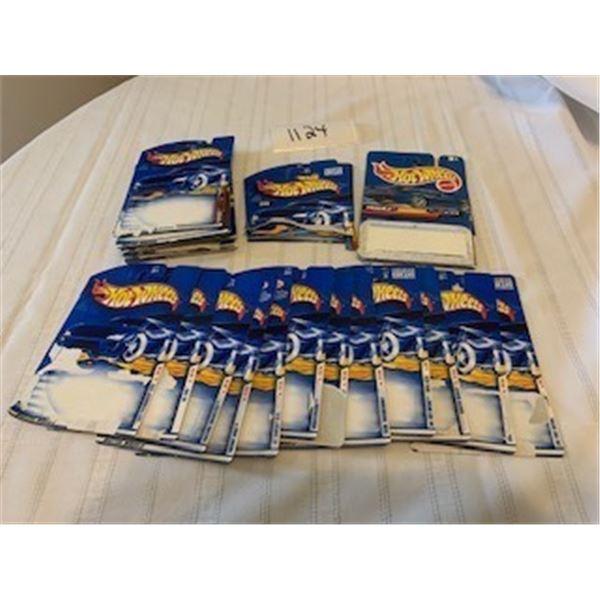 1124-HOT WHEELS ORIGINAL PACKAGING SPECS CARDS   LOT OF 55