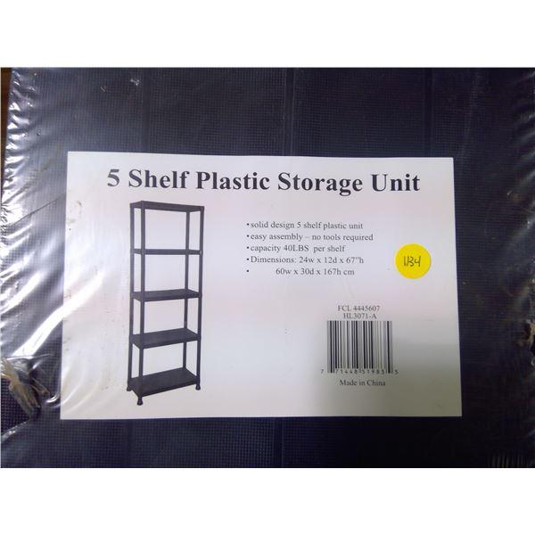 """NEW 5 Shelf Plastic - 67x24x12"""""""