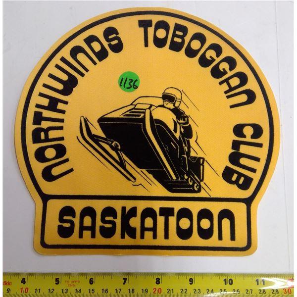 "North Winds Toboggan Club Patch -  8.5x8.5"""