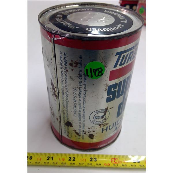 Full Tin Turbo Super Duty Litre Oil Can