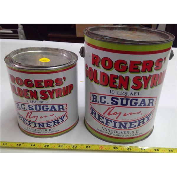 2x Rogers Corn Syrop Tins (5lb & 10lb)
