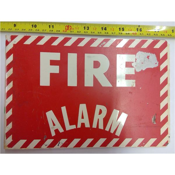 Vintage School Metal Fire Alarm Sign