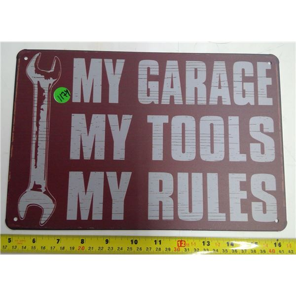 "12""x9"" Reproduction Signs - My Garage"