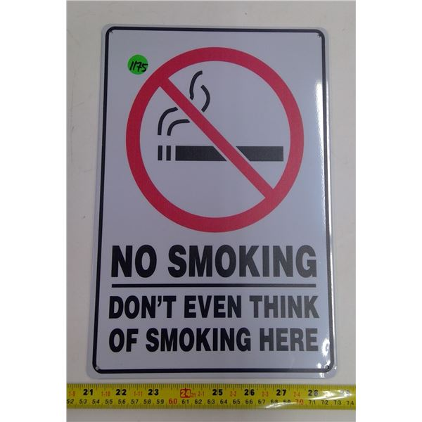"12""x9"" Reproduction Signs - No Smoking"