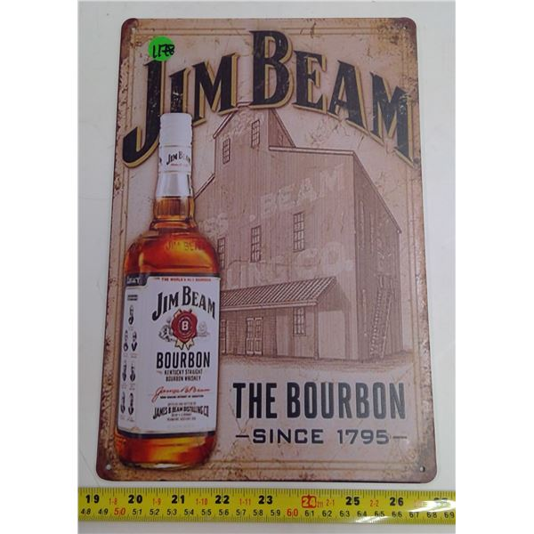 "12""x9"" Reproduction Signs - Jim Beam"