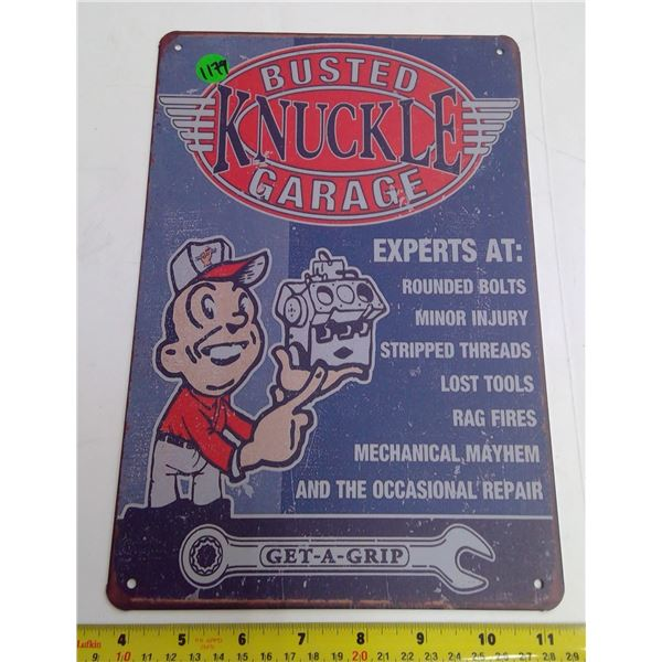 "12""x9"" Reproduction Signs - Busted Knuckle Garage"