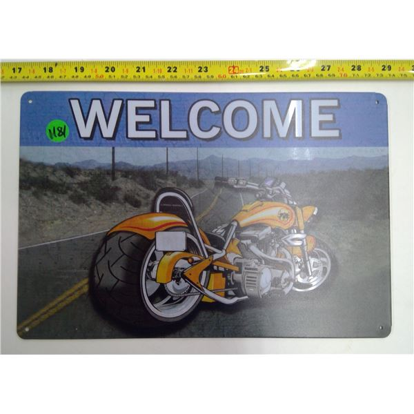 12 x9  Reproduction Signs - Welcome
