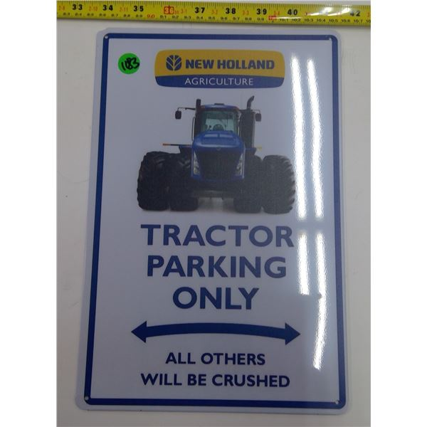 "12""x9"" Reproduction Signs - Tractor Parking Only"