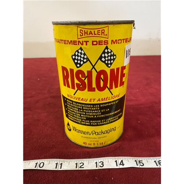 Shaler Rislone Tin Nice (Empty)