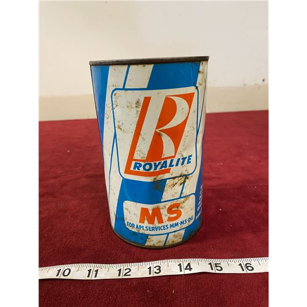 Royalite Oil Tin (Empty)