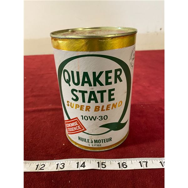 Quaker Sate Motor Oil Tin (Nice) Empty (Card Board)